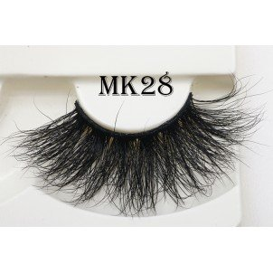 25mm fluffy real mink eyelashes factory - A
