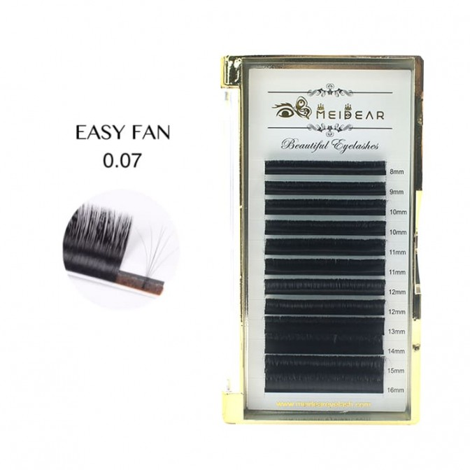 0.07 Fast fanning Blooming Natural Volume Eyelashes Extensions - A