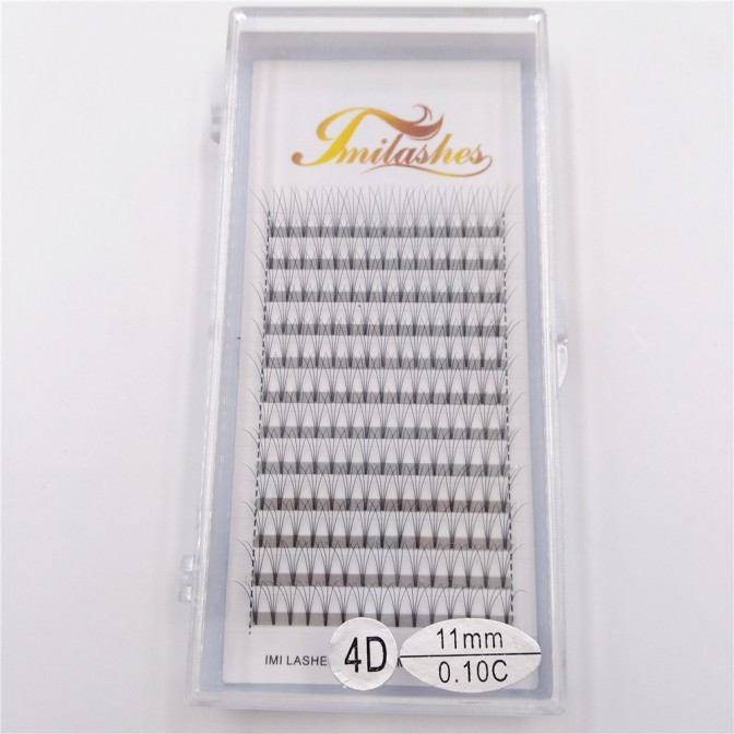 4D 0.10 C 11mm Premade Fan Lash Extensions China Factory Wholesale- V