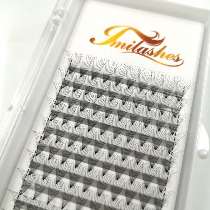 10D 0.05 Pre Made fan Lashes  Wholesaler- V