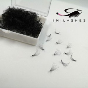 500 Fans  10D 0.07 D Loose Fan Pre Made Eyelashes Manufacturer - V