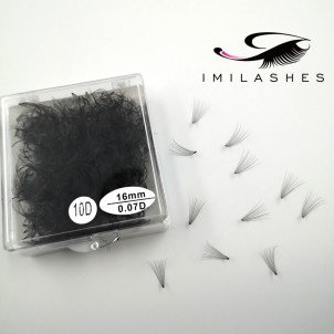 10D 0.07 16mm 500 Fans Loose Fan Lash Extensions Wholesale - V