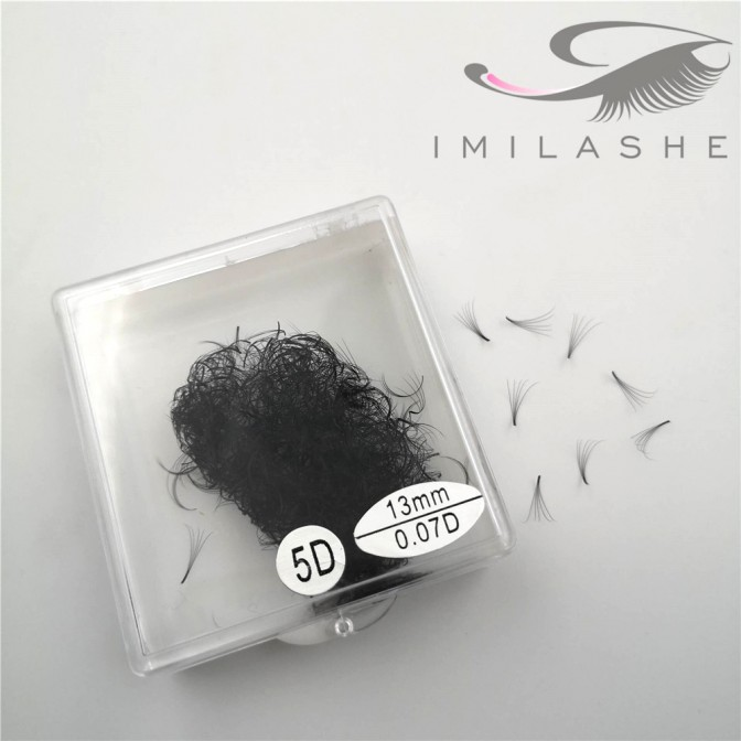 500 Fans 13mm D 0.07 5D Loose Premade Fan Lash Extensions Supply - V
