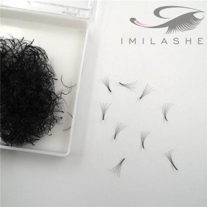 500 Fans  5D 0.07 Loose Pre Made Fan Lash Extensions Wholesale - V