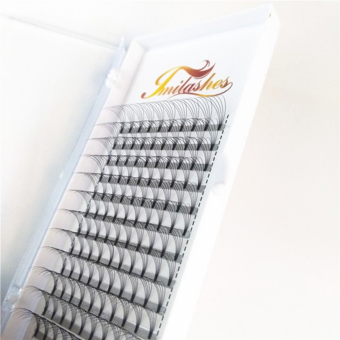 5D 0.10 D Premade Fan Lashes Professional Supplier- V